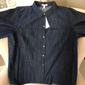 Eileen Fisher Cotton Denim Shirt